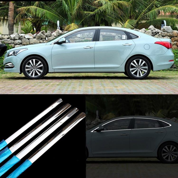 Moldura de marco de ventana de puerta de acero inoxidable 12 Uds para Hyundai Mistra