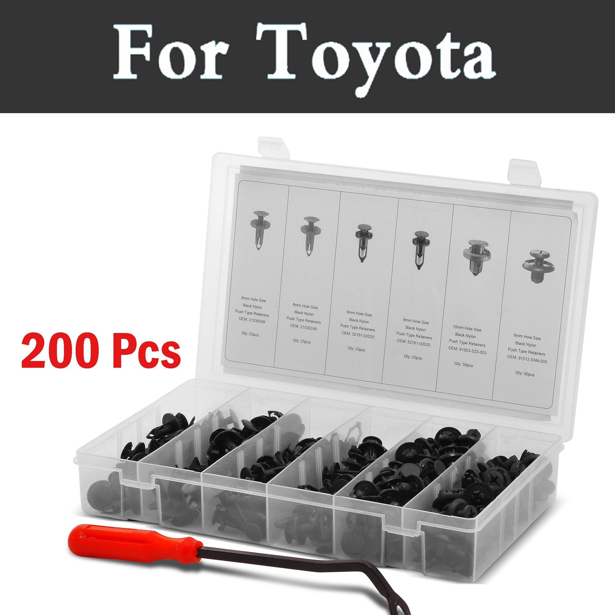 Car Auto Clipes Nail Sortimento [200 Pcs]-Removedor de fecho Rebite Para Avensis Toyota Aygo Belta Lâmina Brevis Cami Camry Caldina