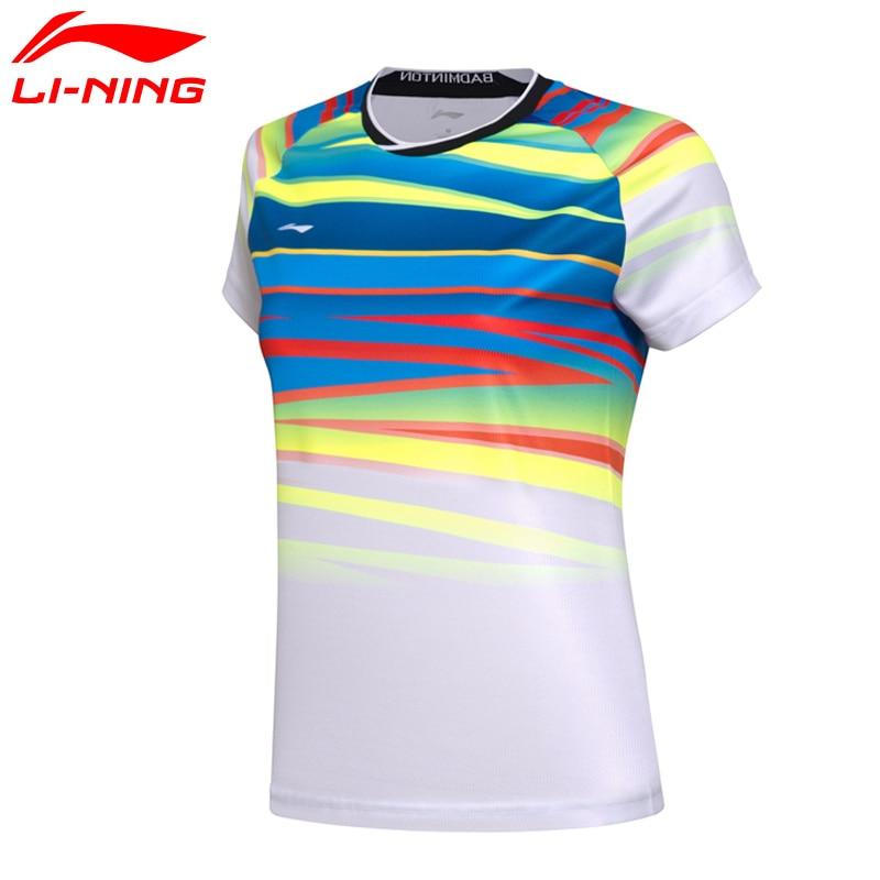 (Código de ruptura) li-ning mujeres en las camisas de bádminton seco camisetas transpirables competencia Li Ning LiNing deportes Tee AAYM062 WTS1336