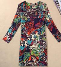 M-4XL Women Clothing 2019 Spring Fall Fashion Flower Print Women Dress Ladies Long Sleeve Casual Autumn Dresses Vestidos