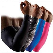 Sport Bras Manches Hommes Fitness Brassards Femmes Bras Garde de Course Compresser Entraînement En Plein Air Arm Warmer Manches de Protection Solaire UV Protection