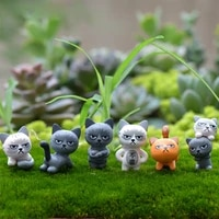 1pc decorative accessories home figurines garden decorations hot angry cat cute random color potting