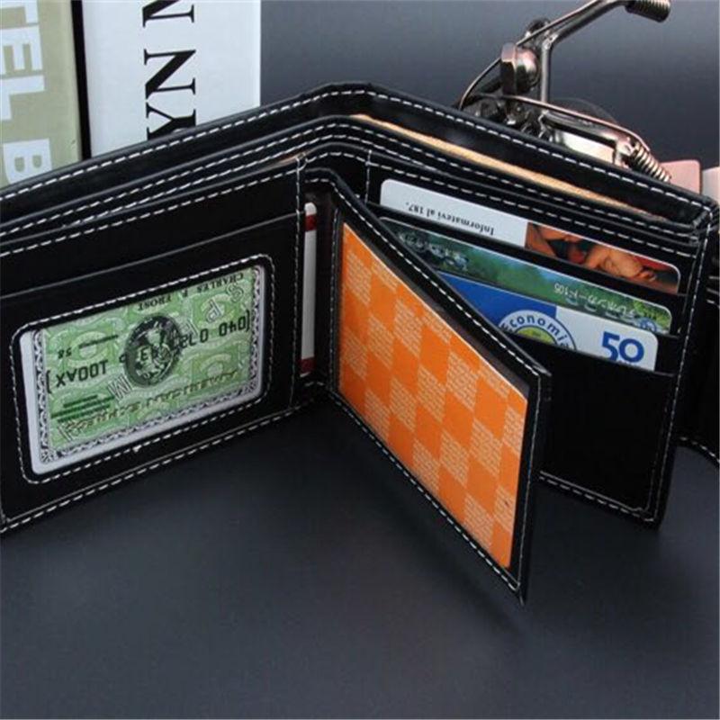 Купить с кэшбэком New fashion Men Leather Brand Luxury Wallet fashion Minimalist Short Slim Male Purses Money Clip Credit Card Dollar Price Portom