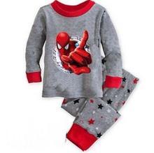 Nowa jesienna Baby boy charakter okrągły dekolt dres chłopcy piżamy ustawia bawełna T-shirt + spodnie 2 sztuk zestawów z długim rękawem H068