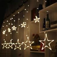 fghgf led string lights pentagram star curtain light fairy wedding birthday christmas lighting indoor decoration light 220v ip44