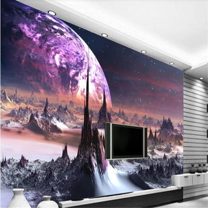 Beibehang-papel pintado de vinilo personalizado, moda, fantasía, universo, cielo estrellado, decoración del...