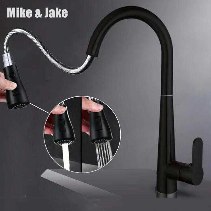 Novedad, grifo de cocina de 3 funciones, grifo de fregadero, grifo, boquilla de doble rociador, mezclador de agua caliente grifos MJ408