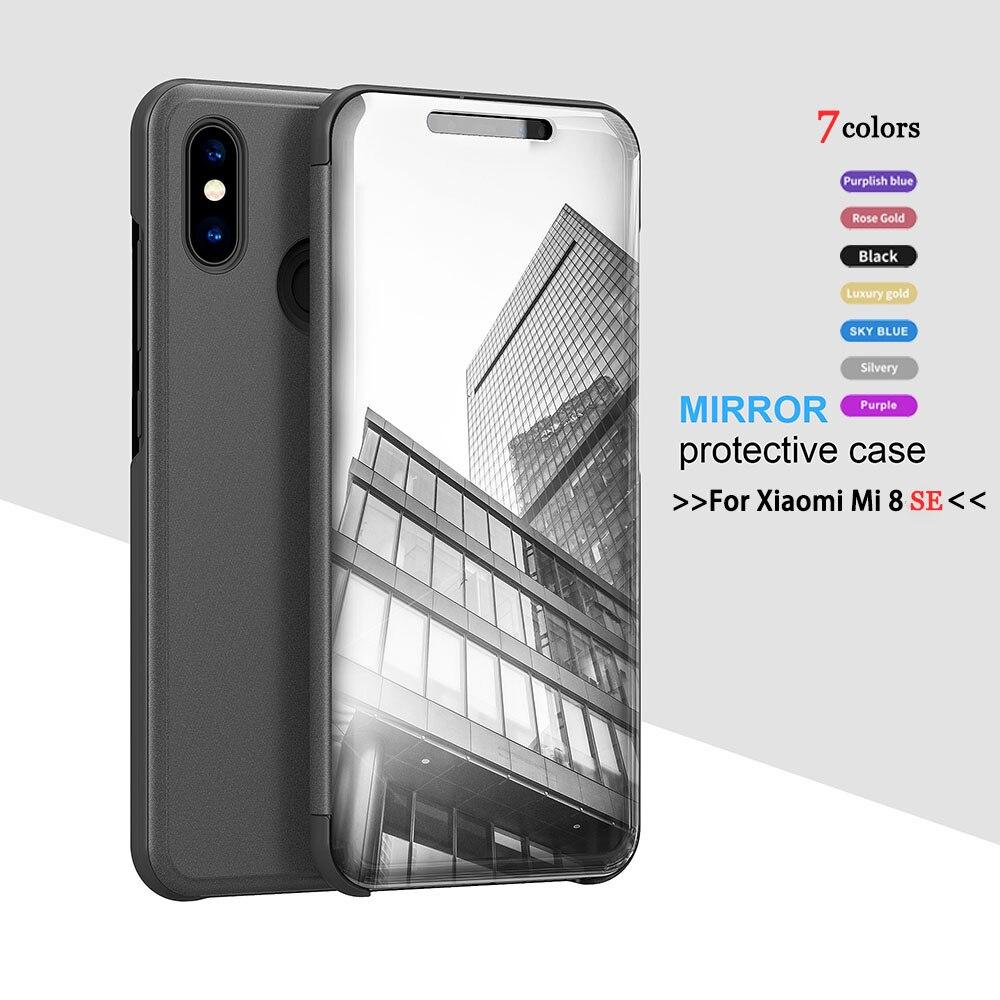 "Duro inteligente soporte plegable de cuero cubierta de la caja del teléfono para Xiaomi mi 8 SE 8SE mi 8SE 8i mi 8i 5,78 ""Ver funda para teléfono inteligente mi rrror"