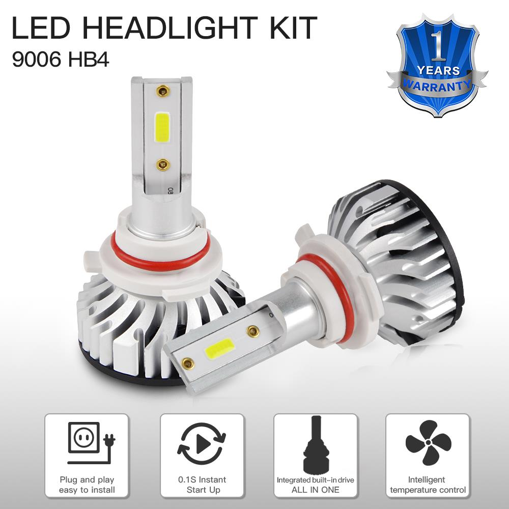 1 Juego de faros LED H4 para Toyota Tundra 2017 3000LM 6500K bombillas Hi/Low Beam