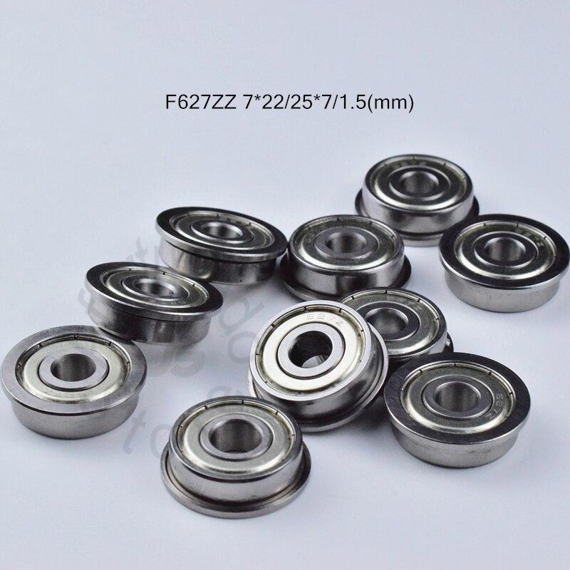 F627ZZ F627 7*22*25*7*1.5(mm) 10pieces RF2270HH bearing Flange bearings F627ZZ F627 RF2270HH chrome steel deep groove bearing