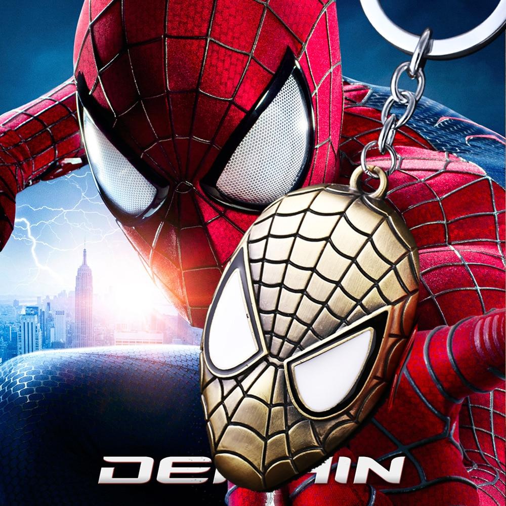 Marvel Avengers Super Hero Spiderman Keychains Figure Spider Man Keyring Pendants Action Figure Toys Doll 3 colors