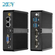 Mini PC sans ventilateur XCY Intel Celeron J1900 DDR3L RAM mSATA SSD Windows Linux double réseau Gigabit Ethernet 2x RS232 HDMI VGA 4xUSB WiFi