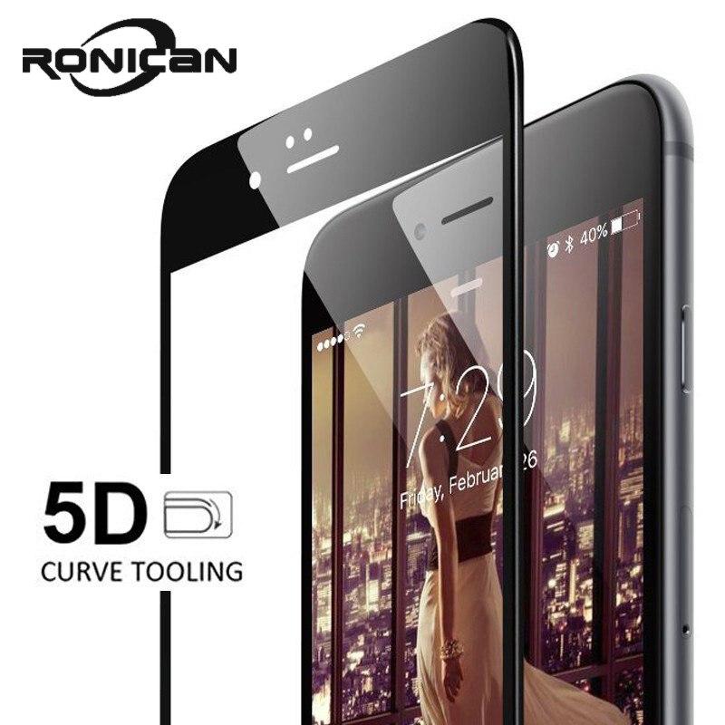 5D закаленное стекло на iphone XS XR XS MAX Защита экрана для iPhone 6 стекло полное покрытие пленка изогнутые края для iphone 6 7 8 Plus X