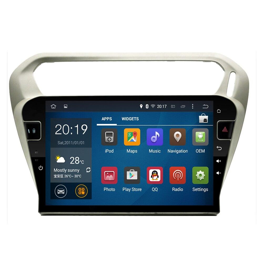 Android 10 ocho núcleo octa core px5 reproductor de DVD del coche GPS de navegación Multimedia para peugeot 301 Citroen Elysee Radio 2013-2019
