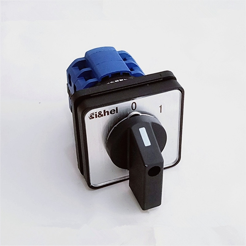 1 Uds interruptor Universal de Cambio 2 posiciones (0-1) CA 20A 440V 8 terminales de tornillo