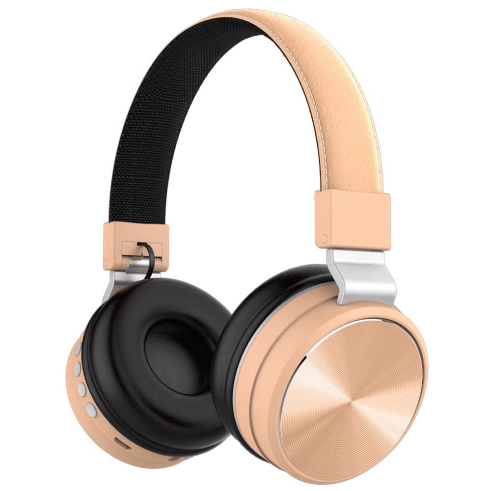 LETINE-سماعات بلوتوث قابلة للطي مع ميكروفون 2019 ، ستيريو لاسلكي ، سماعات أذن فوق الأذن للألعاب