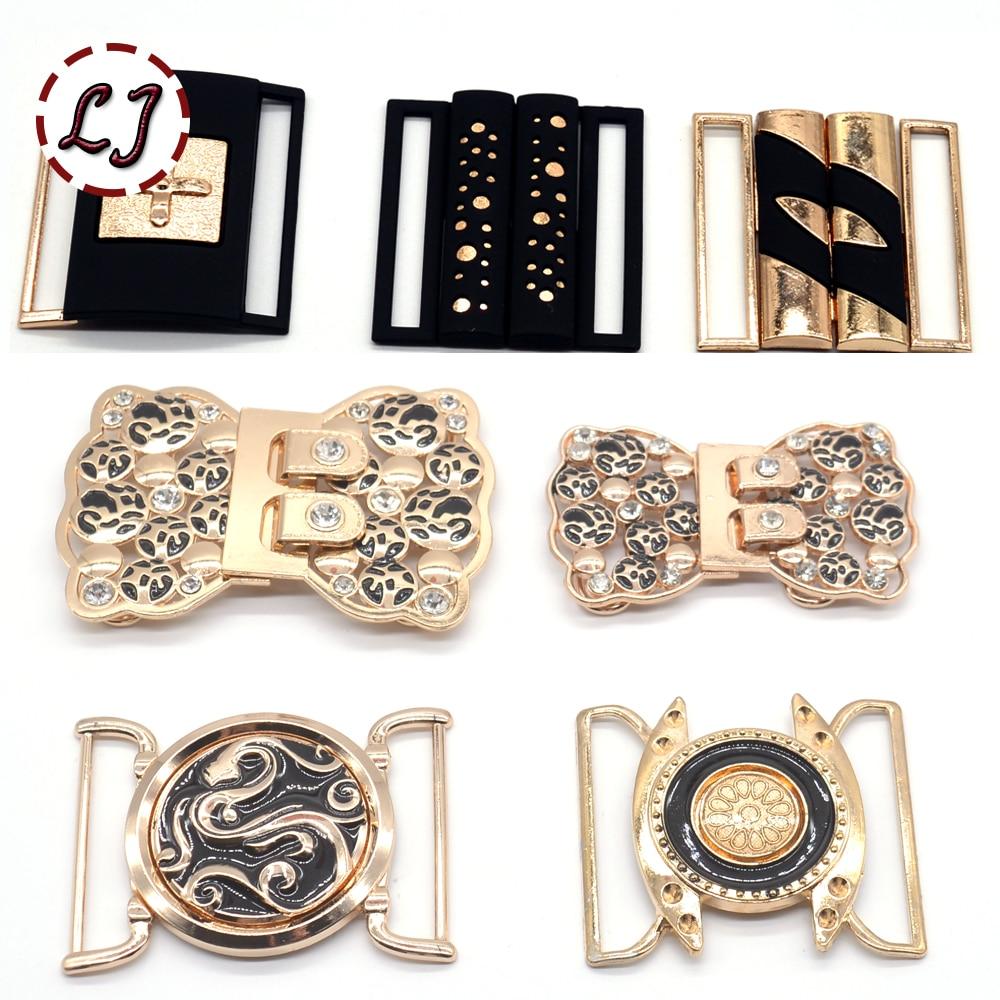 New fashion women 50mm gold silver black cilp square metal belt buckles crafts decoration Buckles DIY garment sew accessories