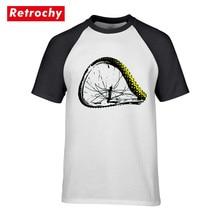 Camiseta de ciclismo de montaña de MTB con ruedas torcidas, Camiseta de cuello redondo, Camiseta de algodón puro para hombre, camiseta Hipster impresionante, Camisetas