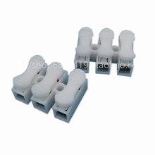 100 шт./лот 10A 220 В высокое давление устойчивый 2 Pin 3Pin Push Быстрый провод кабель соединитель белый проводка терминал
