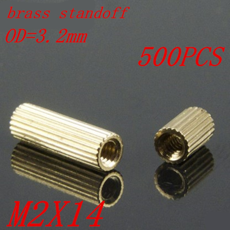 500 шт M2 x 14 M2 * 14 мм латунь противостояние Круглые прокладки для женской резьбы