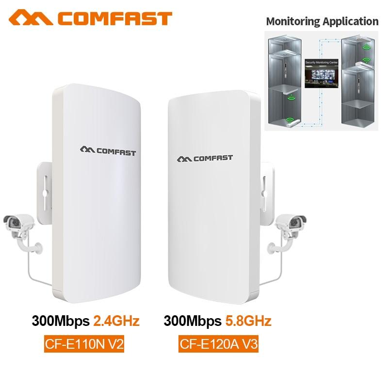 Comfast-جهاز توجيه لاسلكي خارجي ، 2.4 جيجاهرتز/5 جيجاهرتز ، 300 ميجابت في الثانية ، جسر CPE طويل المدى 1-3 كجم ، تمديد إشارة Wifi ، نقطة وصول نانوية