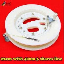 Gratis Verzending Hoge Kwaliteit 22 cm ABS Kite Wit Wiel Grote Vliegeren Tractie Gereedschappen Kite Handvat Wiel en 400 m Lijn