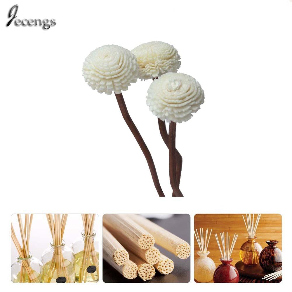 Premium Brown Wavy Rattan Reeds add Through grass flowers Fragrance Diffuser Stick Replacement Refill Sticks 177mm(7inch)*3.5)
