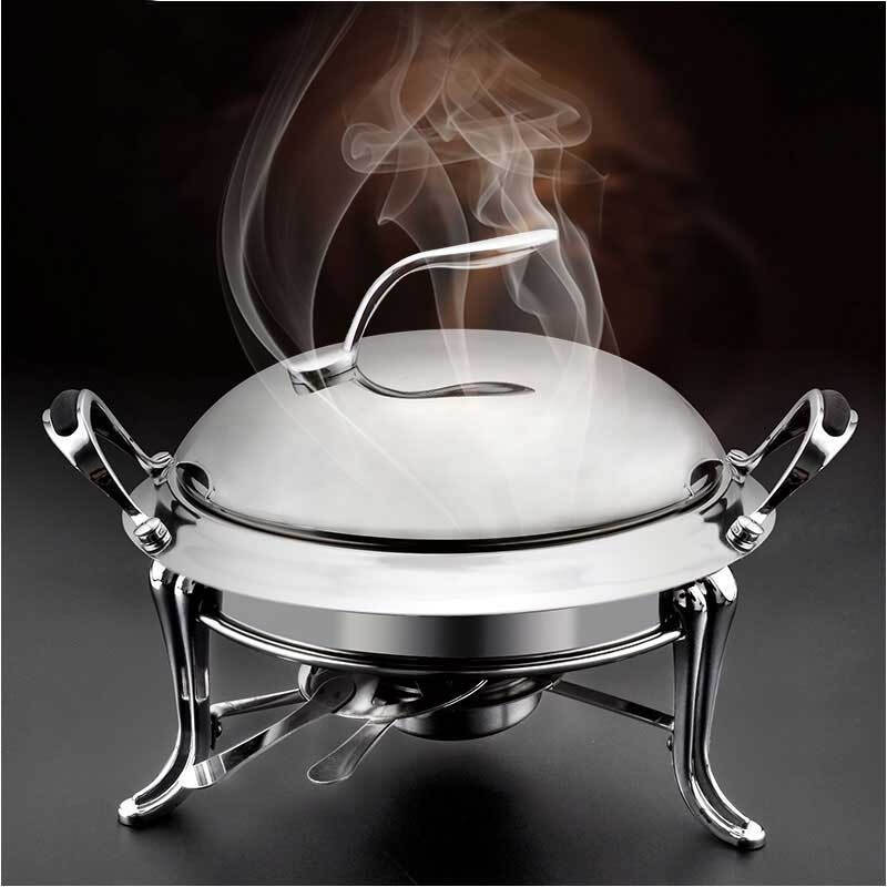 الصينية الفولاذ المقاوم للصدأ المنزلية دعوى التجارية الكحول موقد صغير الغضب طبق الصلبة الوقود في الهواء الطلق boilerlittle الجاف إناء/ قدر