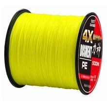 ZUKIBO 4X500 M Braide carpe ligne de pêche Super forte 100% Multifilament PE corde de pêche 4 brins fils tressés 8LB à 80LB