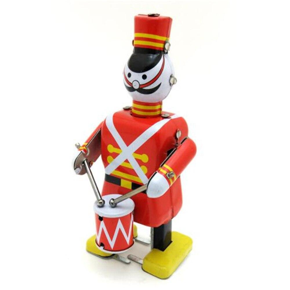 Винтажная королевская бандана, оловянная игрушка, классический часовой механический ветроустойчивый жестяной робот, игрушка для взрослых, детей, коллекционный подарок