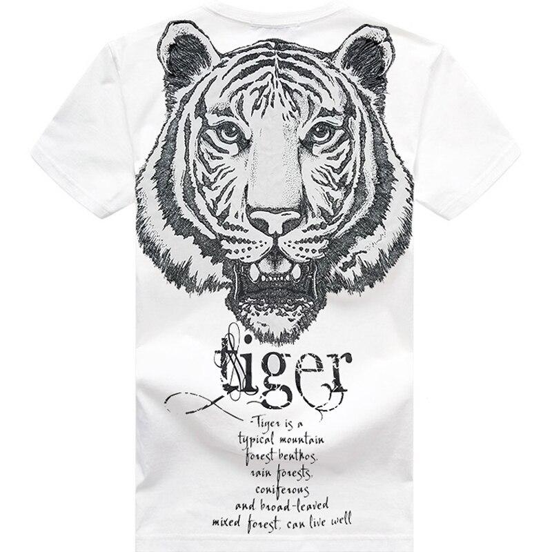 Envío Gratis camisetas de tigre talla grande Camisetas cuello redondo Camiseta Animal fat guy talla grande Casual de manga corta para hombre camiseta 2XL-8XL 155 cm