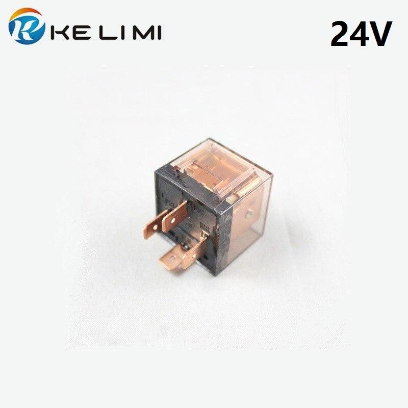 KE LI MI Car Relay DC 24V 80A 4 Pin 5 Pin Automobile Truck Auto Transparent Electromagnetic Sealed 4pins 5pins Relays