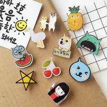 Fashion Cartoon badge Unisex  Acrylic Badge fashion clothes badge backpack 1PC Mini Brooch Anime Icons Badges colorful