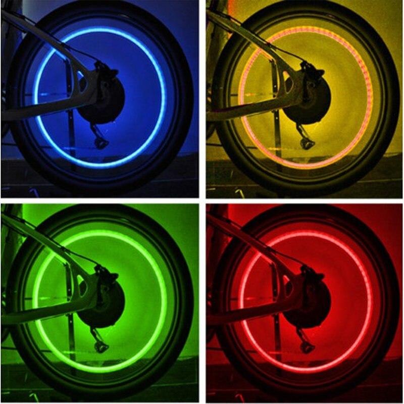 Автомобильные аксессуары, аксессуары для велосипеда, неоновый синий стробоскоп, светодиодные колпачки для шин, 1 шт.