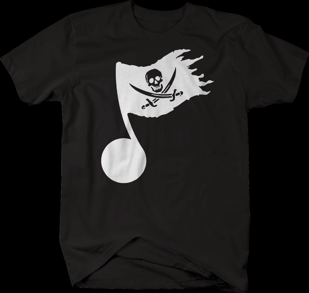 Nota de música bandeira pirata afligido tshirt tendência estilo moda legal masculina