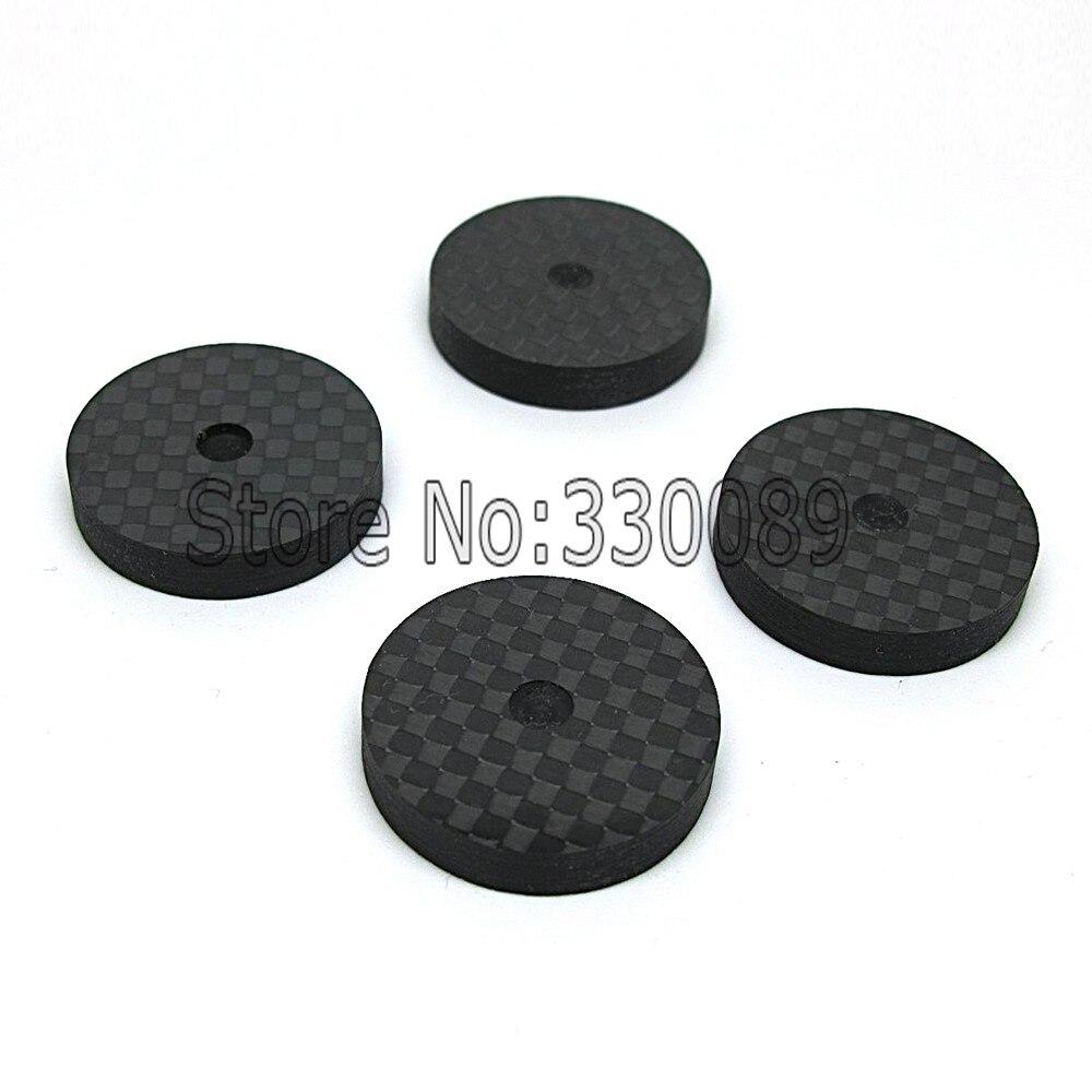 Envío Gratis Set de 8 altavoces de fibra de carbono aislamiento 25x5mm punta Base Zapata pies hi-fi CD