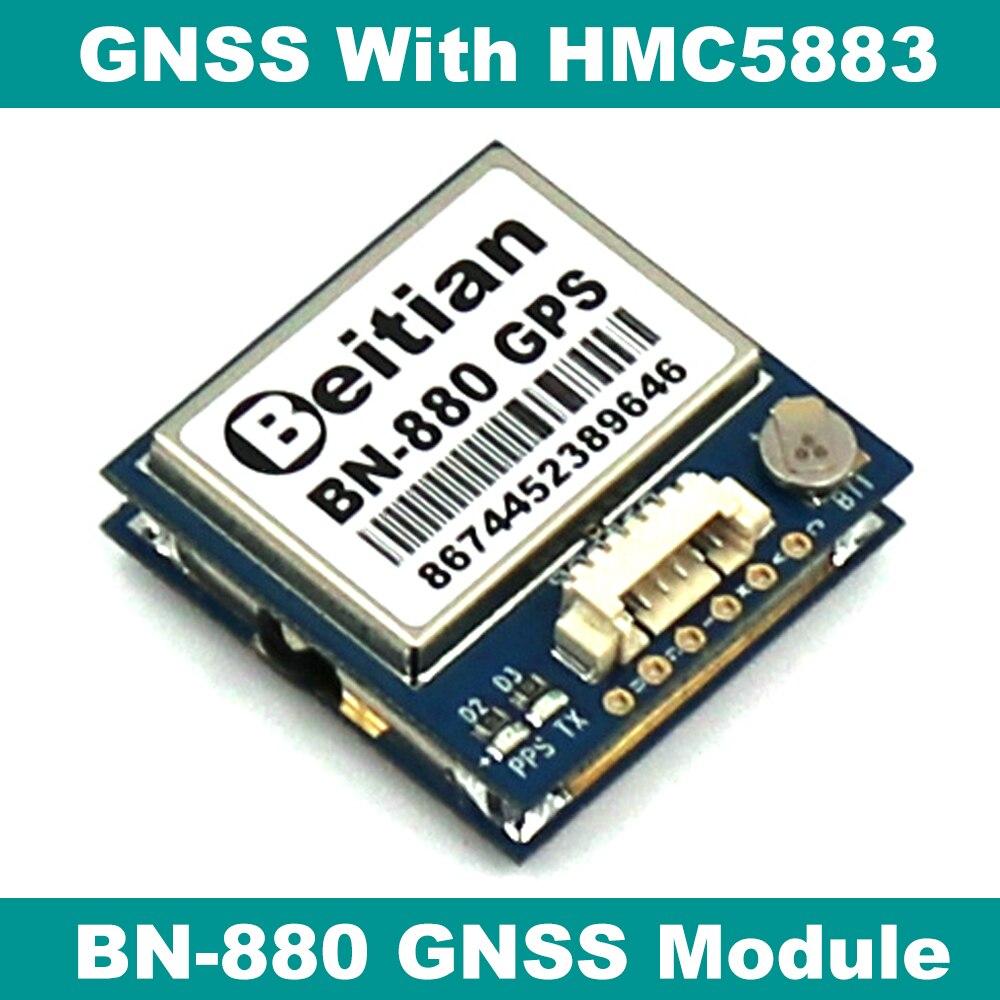 Beitian gnss 모듈 gps glonass 듀얼 비행 제어 gps 모듈 나침반 hmc5883l amp2.6/pix4/pixhawk, BN-880