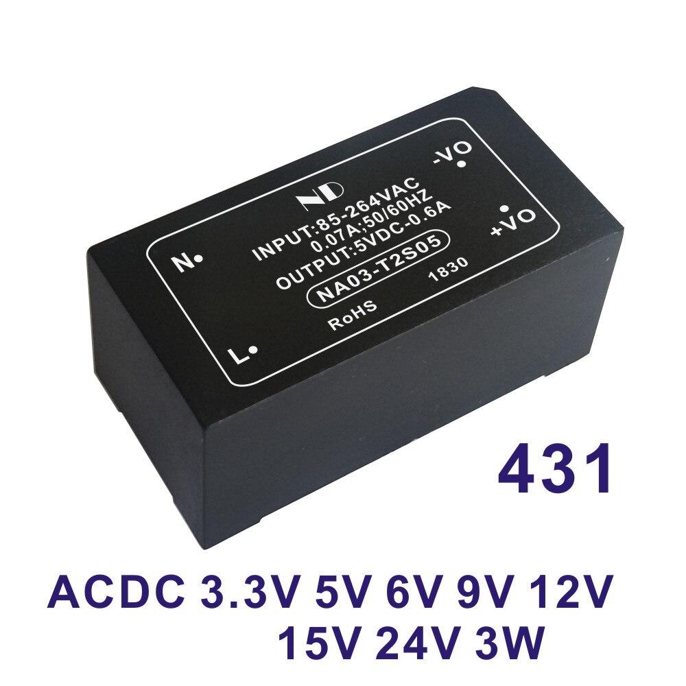 1 Uds 2019 nuevo módulo de fuente de alimentación ac dc 220V a 5V 12V 15V 24V 3W salida constante aislada acdc convertidor productos de calidad