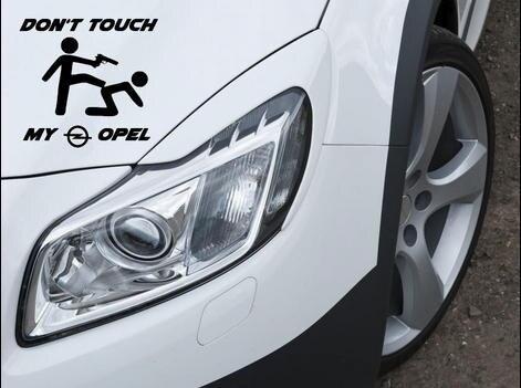 Наклейка Don t Touch my Opel Aufkleber Astra GSI для мотоспорта и спорта 12x10 см