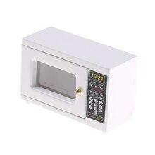 Nouveauté 112 Miniature blanc four à micro-ondes maison de poupée accessoires de cuisine