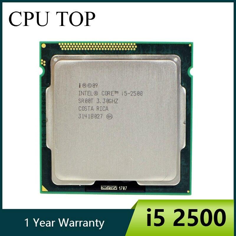 Intel Core i5 2500 de 3,3 GHz 6M 5 0GT/s SR00T CPU Quad-Core procesador