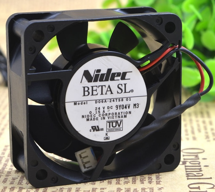 SSEA New Wholesale cooling fan for Nidec D06A-24TS8 01 24 V DC 0.15A 6025 inverter fan 60*60*25mm