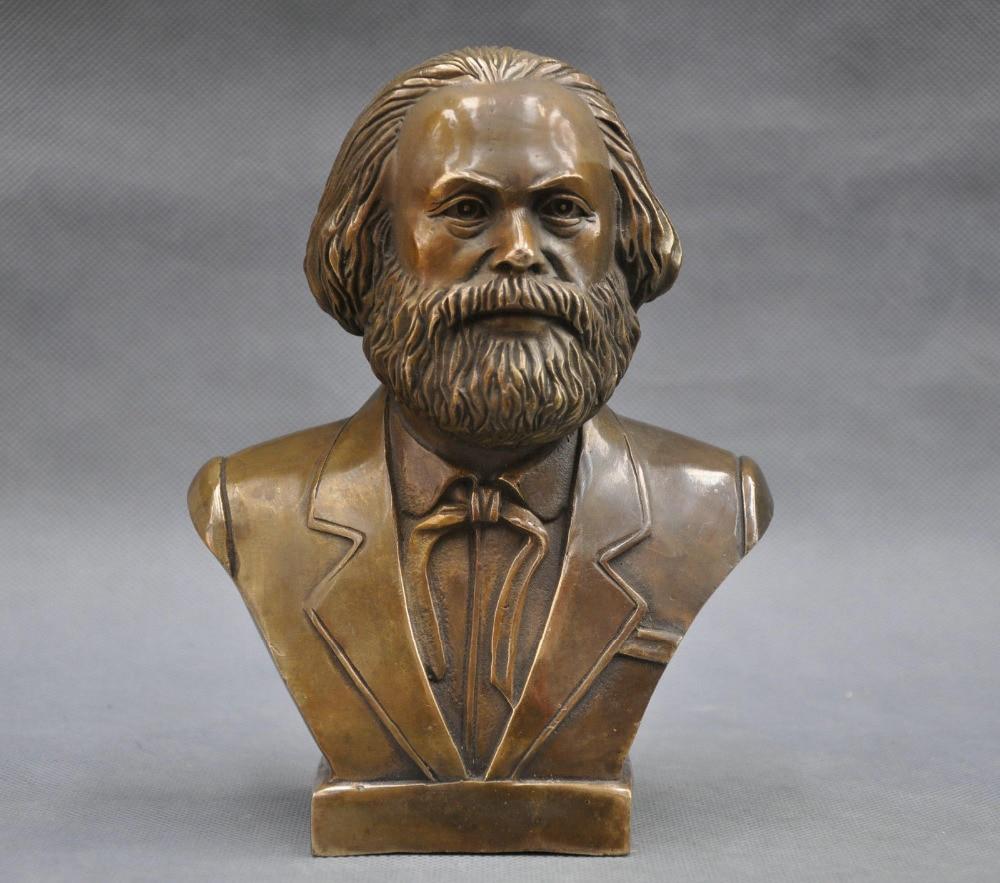 Estatua de bronce del busto del gran comunista alemán