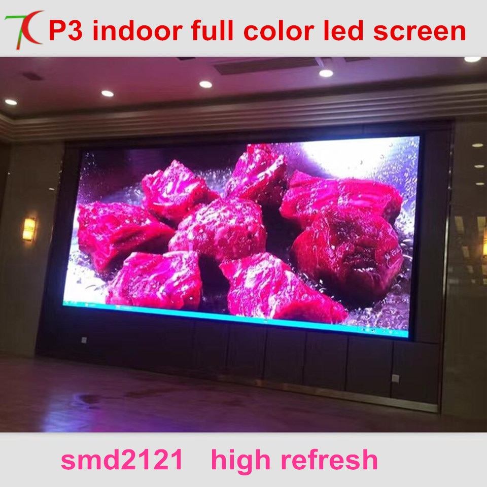 Бесплатный метод установки P3 полноцветная светодиодная видеостена для конференц-зала, мультимедийного класса