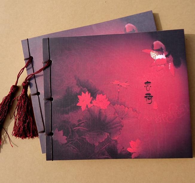 ¡Nuevo! cuaderno retro con borlas elegantes hechas a mano estilo chino Vintage, pintura de tinta, notas diarias hermosas, regalo 145