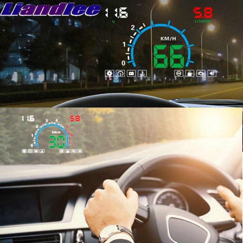 Liandlee HUD para BMW X3 E83 F25 G01 2003 ~ 2018 Onwork, velocímetro Digital OBD2, pantalla frontal, gran Monitor, HUD de carreras