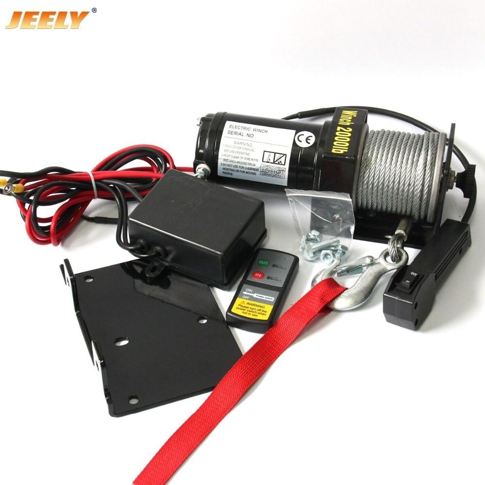 JEELY JYJP-2000W 12V 2000lb ATV UTV cabrestante eléctrico de Control remoto