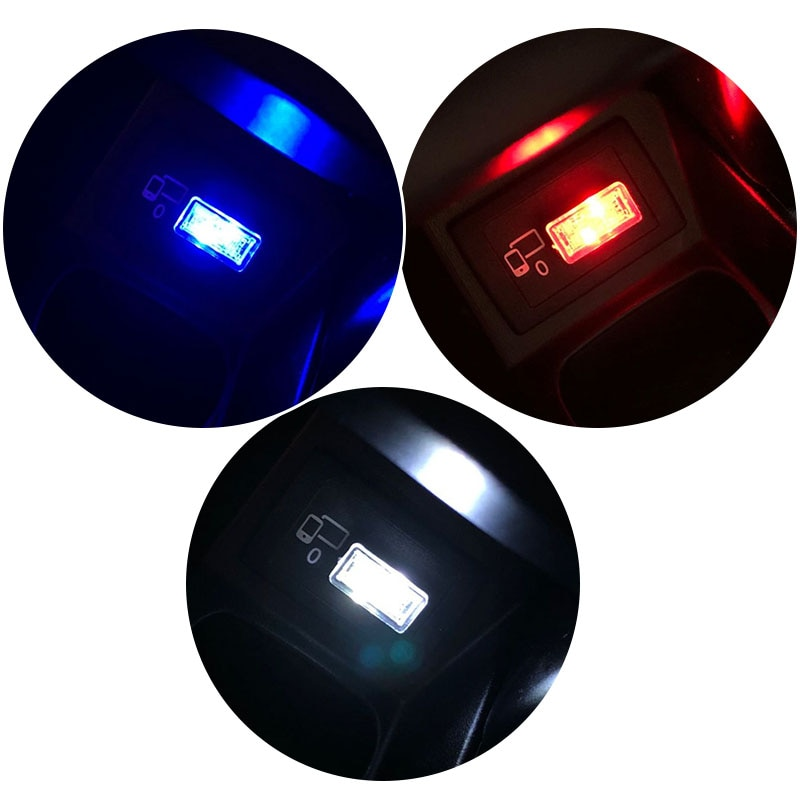USB del coche luces LED de ambiente para Mini One Cooper R50 R52 R53 R55 R56 R57 R58 R60 R61 D COUNTRYMAN CLUBMAN cuopé descapotable