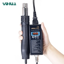 Neue große power YIHUA 8858 110 V 220 VPortable BGA Solder Rework Station Digital Heißer Luft Blasen trockner Wärme Pistole löten Station 8858