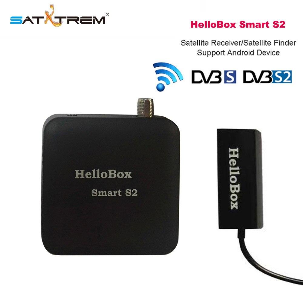 Hellobox Smart S2 buscador satelital Receptor de TV HD reproducción en teléfono móvil/Receptor de tableta Receptor Digital DVB Player Receptor de satélite